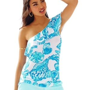 🆕🦋 Lilly Pulitzer Neveah One Shoulder Top